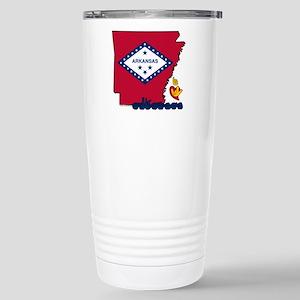 ILY Arkansas Stainless Steel Travel Mug