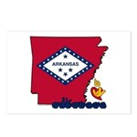 ILY Arkansas Postcards (Package of 8)