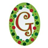 Initial g Oval Ornaments