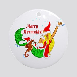 Merry Mermaid Ornament (Round)