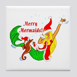 Merry Mermaid Tile Coaster