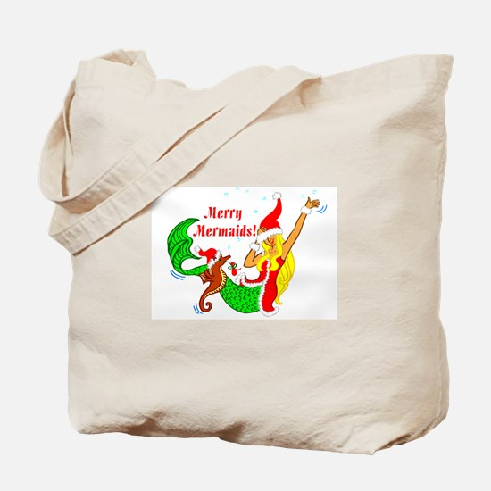 Merry Mermaid Tote Bag