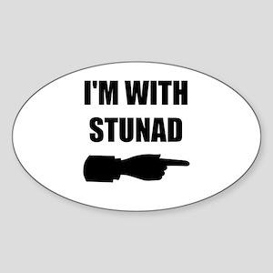 I'm With Stunad Sticker (Oval)