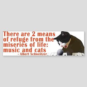 Cats and Music Sticker (Bumper)