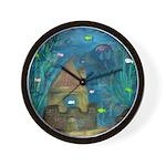 Fish and Secret Castle Wall Clock