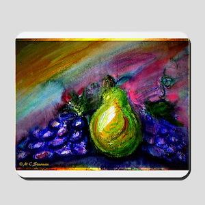 Colorful Fruit, grapes, pear Mousepad