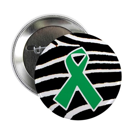 "Green Ribbon 2.25"" Button (10 pack)"