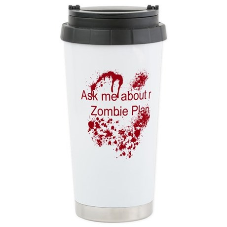 Zombie Plan Stainless Steel Travel Mug