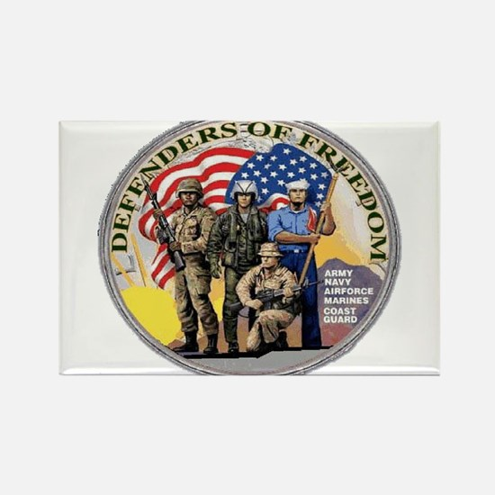 FREEDOM DEFENDERS Rectangle Magnet