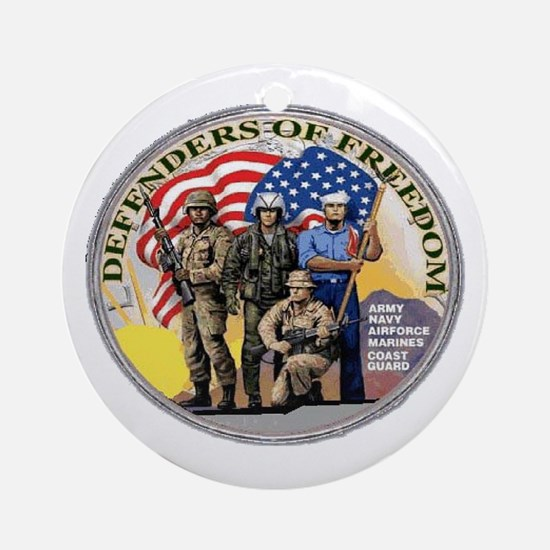 FREEDOM DEFENDERS Ornament (Round)