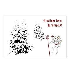 Greetings From Krampus Postcards