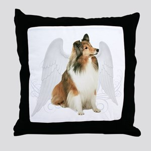 Sheltie Angel Throw Pillow