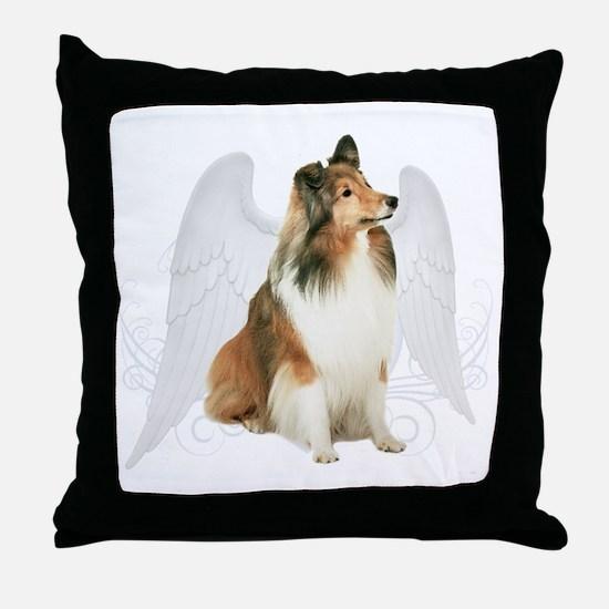 Sheltie Angel Throw Pillow