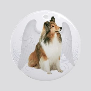 Sheltie Angel Ornament (Round)