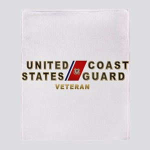 USCG Veteran Throw Blanket