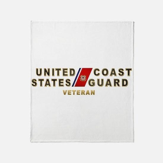 USCG Veteran Throw Blanket