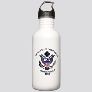 USCG Flag Emblem Stainless Water Bottle 1.0L