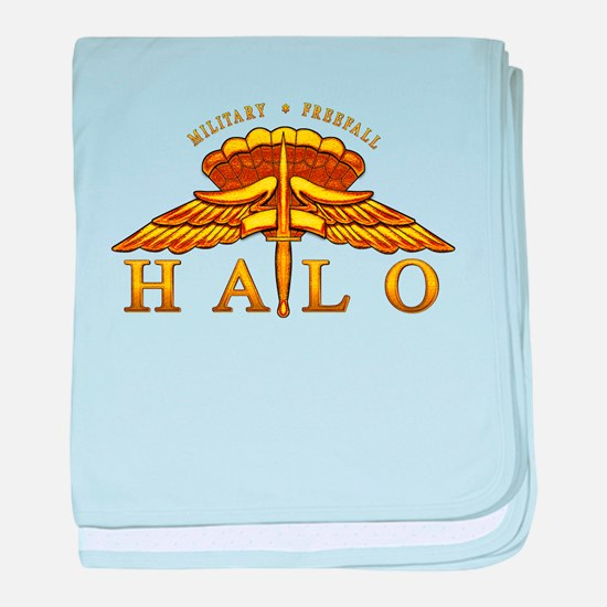 Golden Halo Badge baby blanket