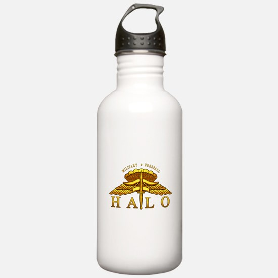 Golden Halo Badge Water Bottle