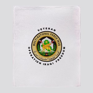 OIF Veteran Throw Blanket