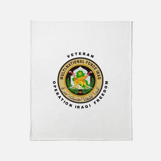 OIF Veteran Throw Blanket