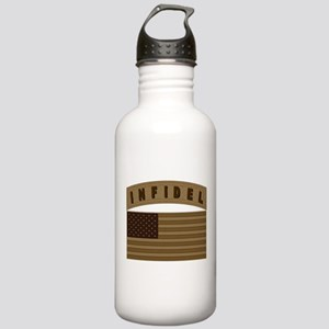 Desert US Infidel Patch Stainless Water Bottle 1.0