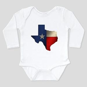 State of Texas Long Sleeve Infant Bodysuit