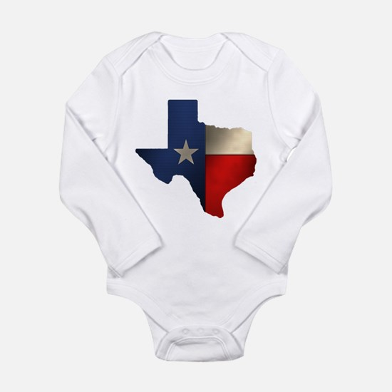 State of Texas Long Sleeve Infant Bodysuit