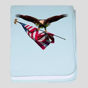 Eagle & Flag baby blanket