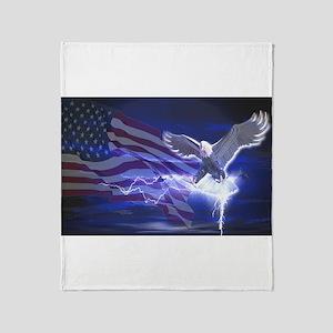 Eagle Storm Throw Blanket