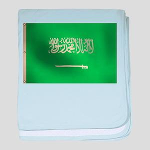 Flag of Saudi Arabia baby blanket