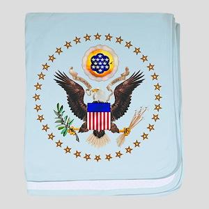 U.S. Seal baby blanket