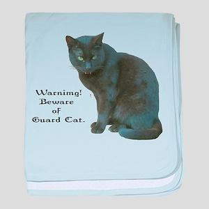 Guard Cat baby blanket