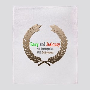 Envy and Jealousy Throw Blanket