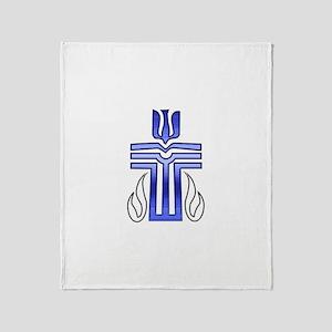 Presbyterian Cross Throw Blanket