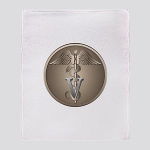 Veterinary Caduceus Throw Blanket