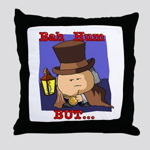 Bah Hum But Throw Pillow