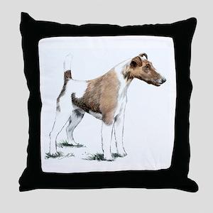 Fox Terrier Throw Pillow