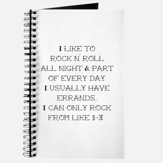 Rock N Roll Journal