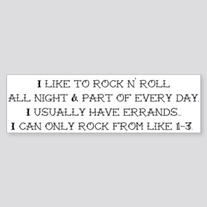 Rock N Roll Sticker (Bumper)