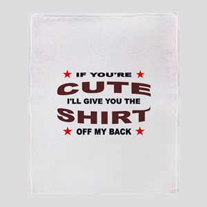 ARE YOU CUTE ? Throw Blanket