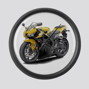 CBR 600 Yellow-Black Bike Large Wall Clock