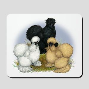 Silkie Chicken Trio Mousepad