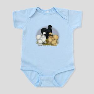 Silkie Chicken Trio Infant Bodysuit