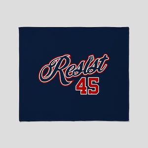 Resist 45 Throw Blanket