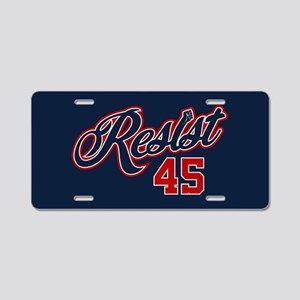 Resist 45 Aluminum License Plate