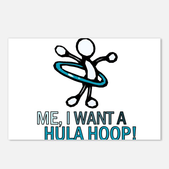 Hula Hoop Postcards (Package of 8)