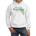 not everything is flat in flo Hooded Sweatshirt
