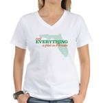 not everything is flat in flo Women's V-Neck T-Shi
