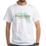 not everything is flat in flo White T-Shirt